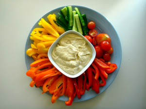 Feed your family with healthy options this holiday season - like a vegetable platter.