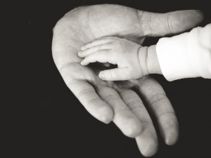 grandparent and grandchild hand