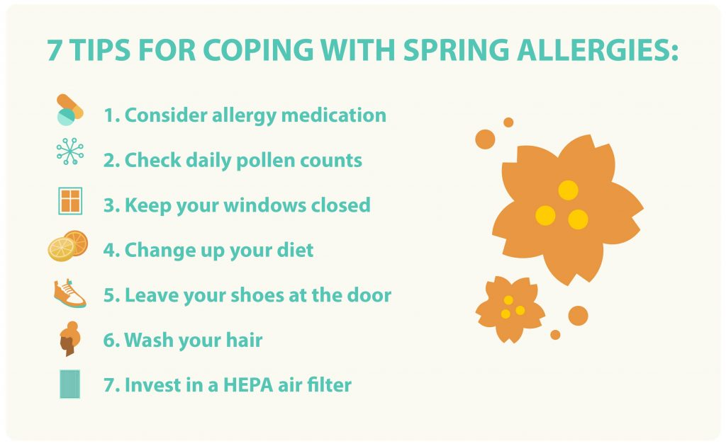 seven tips for coping with spring allergies graphic